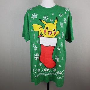 Pokemon Pikachu Holiday Christmas Stocking Top
